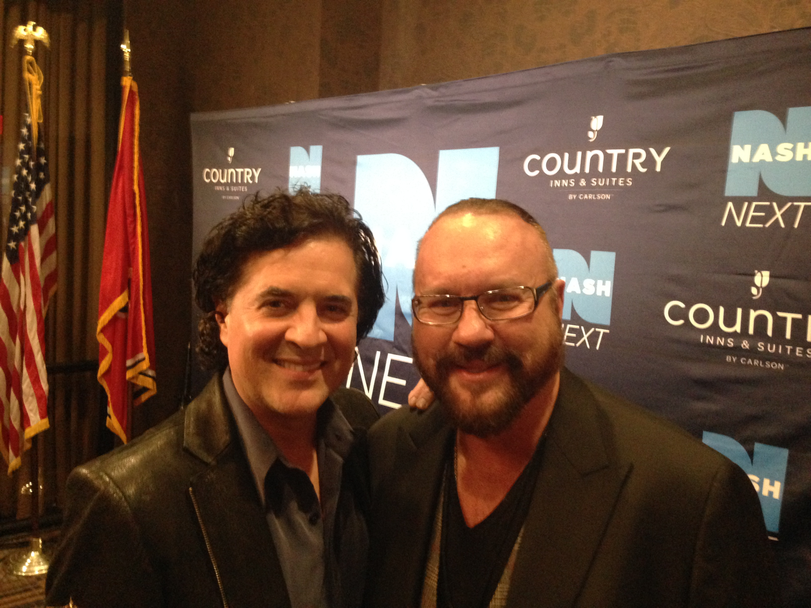 Desmond Child & Scott Borchetta at NASH Next event happening now at the Wildhorse Saloon Nashville