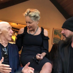 Desmond Child with Al Ruddy and Sharon Stone