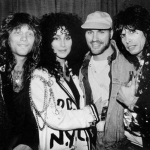 Desmond Child with Jon Bon Jovi, Cher, and Steven Tyler