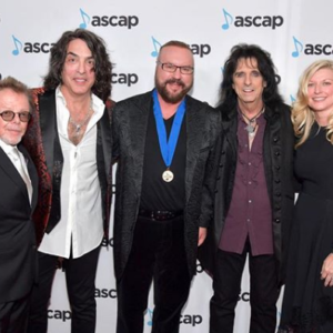 Desmond Child with Paul Williams, Paul Stanley, and Alice Cooper