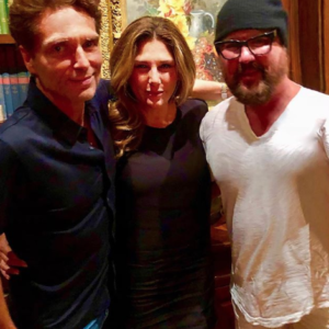 Desmond Child with Richard Marx and Daisy Fuentes