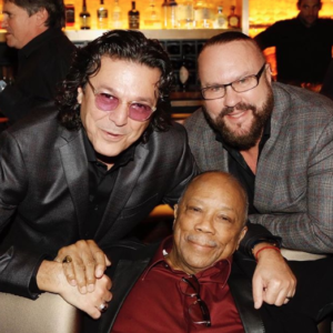 Desmond Child with Rudy Perez and Quincy Jones