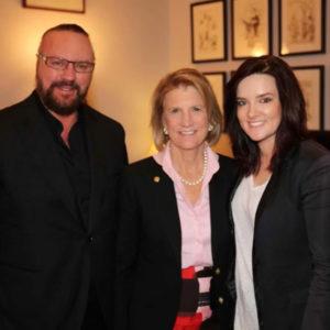 Desmond Child with Senator Shelley Moore Capito and Brandy Clark
