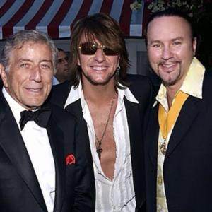 Desmond Child with Tony Bennett and Richie Sambora